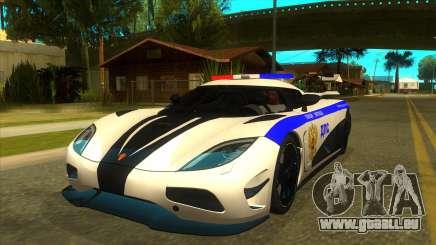 Police Koenigsegg Agera R für GTA San Andreas