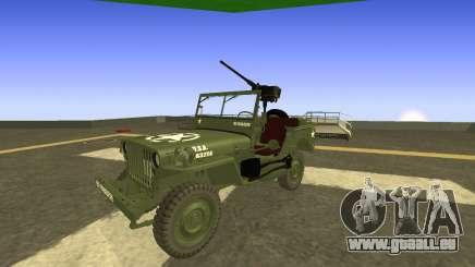 JEEP Wrangler Armée américaine Harinder Mods pour GTA San Andreas