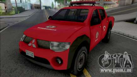 Mitsubishi L200 Triton 2010 CBMERJ Improved pour GTA San Andreas