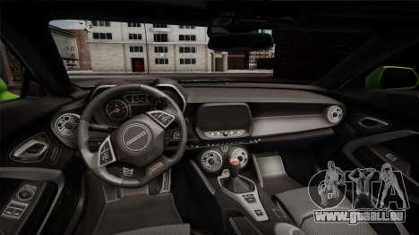 Chevrolet Camaro 2016 pour GTA San Andreas