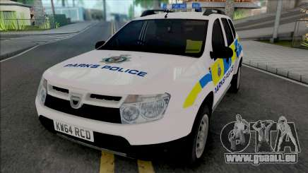 Dacia Duster Parks Police United Kingdom für GTA San Andreas