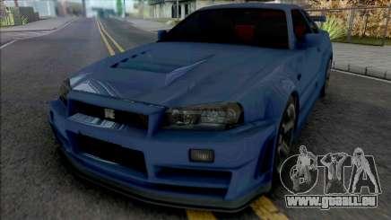 Nissan Skyline GT-R R34 Nismo Z-Tune 2005 [IVF] pour GTA San Andreas