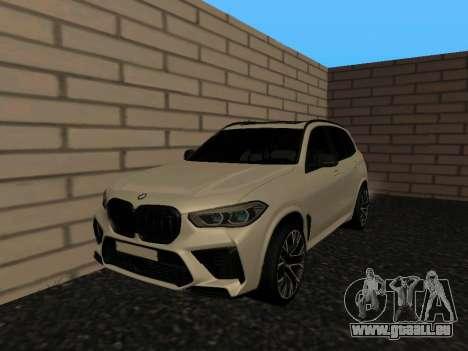 BMW X5M F95 White Plates für GTA San Andreas