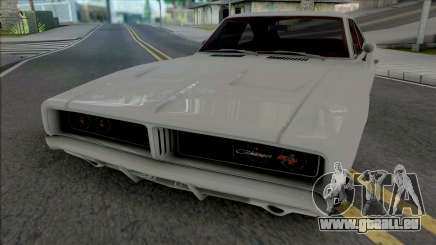 Dodge Charger RT 1969 White pour GTA San Andreas