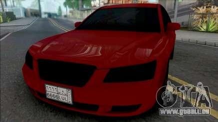 Hyundai Sonata Red Black pour GTA San Andreas