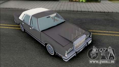 Lincoln Town Car 1986 Grey pour GTA San Andreas