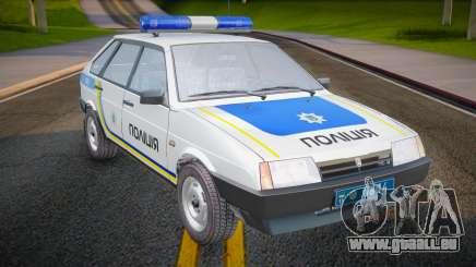 VAZ 2109 Polizei der Ukraine für GTA San Andreas