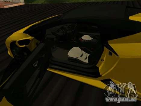 Lamborghini Huracan Spyder 2019 pour GTA San Andreas