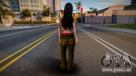 Gangsta girl skin pour GTA San Andreas
