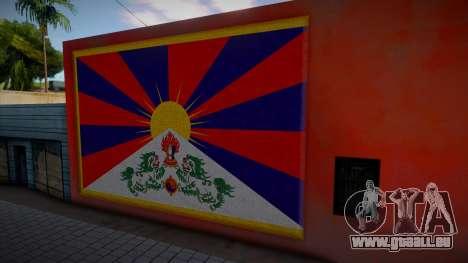 Tibet Flag Graffiti pour GTA San Andreas