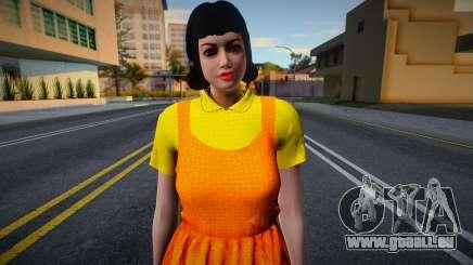 Female Custom Giant Doll Dress Round6 Squid Game pour GTA San Andreas